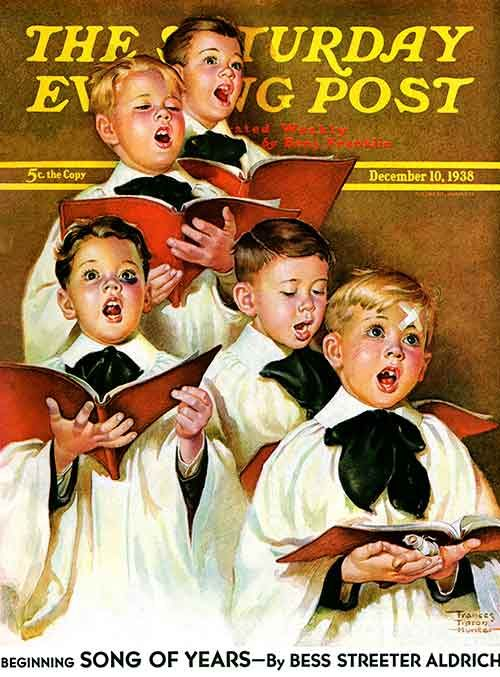 saturday evening post christmas choir